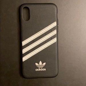 Adidas leather iPhone XS case
